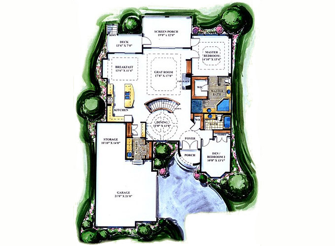TURNBURY Main Level Floor Plan