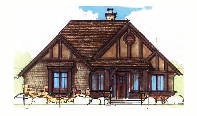 Wheat Hill Abbey Home Plan Front Option A