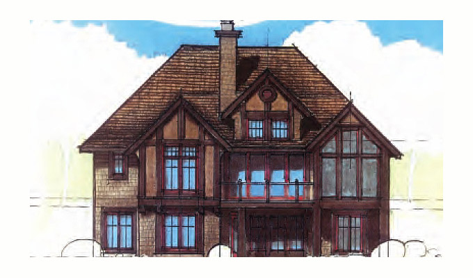 Wheat Hill Abbey Home Plan Front Option B
