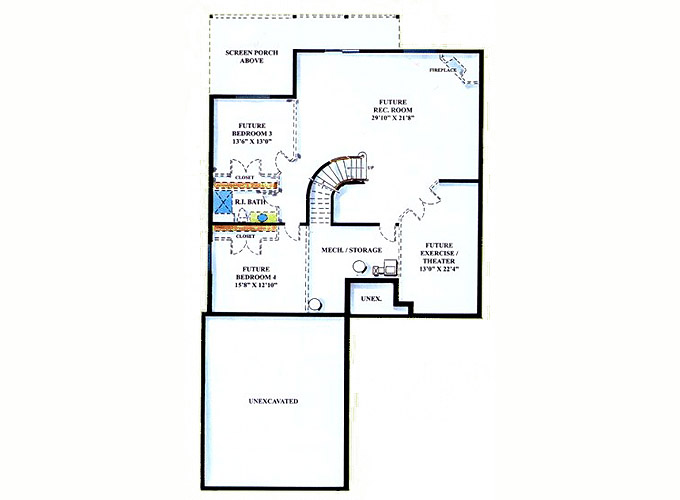 WICKHAM Lower Level Floor Plan