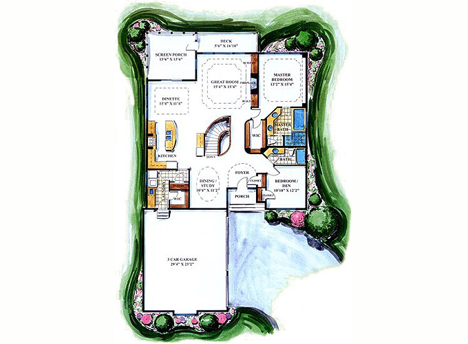 WICKHAM Main Level Floor Plan