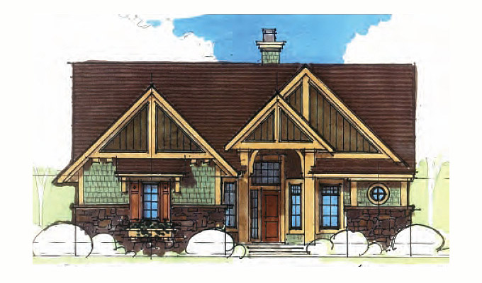 Wood Spring Home Plan Front Option A