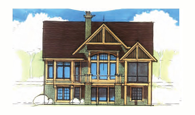 Wood Spring Home Plan Front Option B