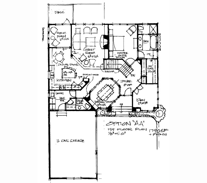 Wood Spring Main Level Floor Plan