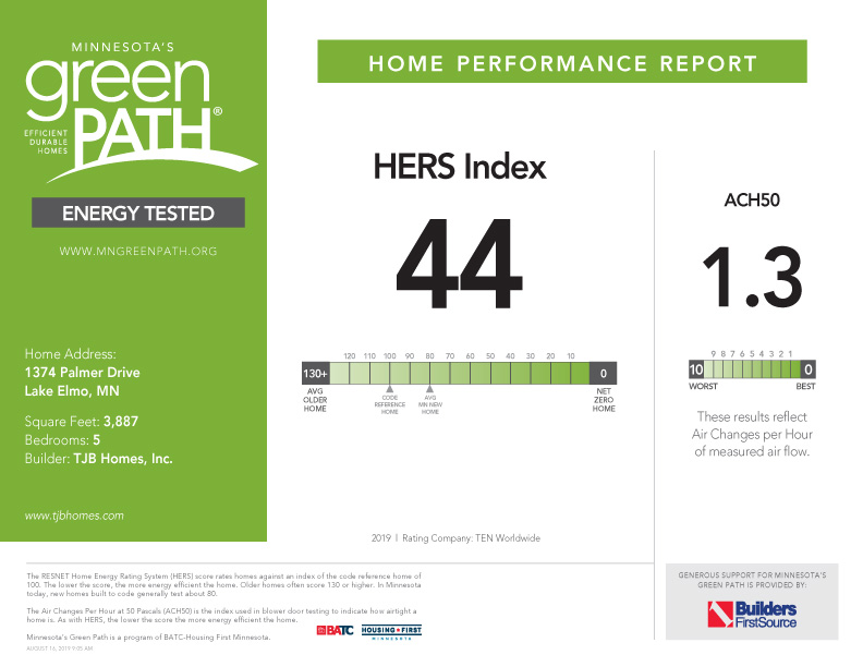 GREEN PATH Test 44 HERS