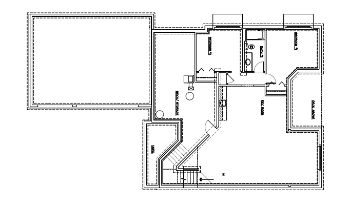 Deacon's Forest Model Home Lower Level Plan