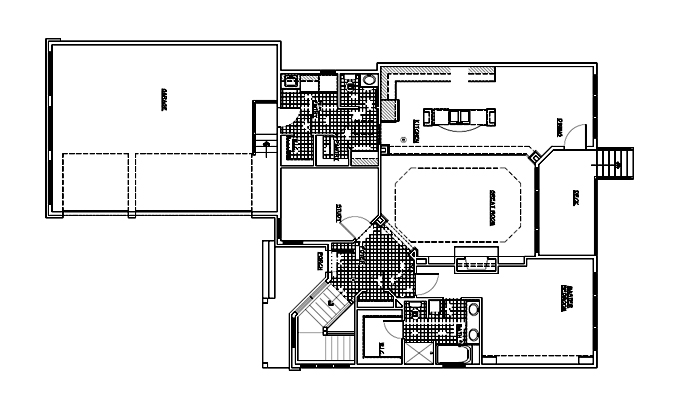 Deacon's Forest Model Home Main Level Plan