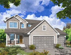 Deacons Pond Two Story Model Home