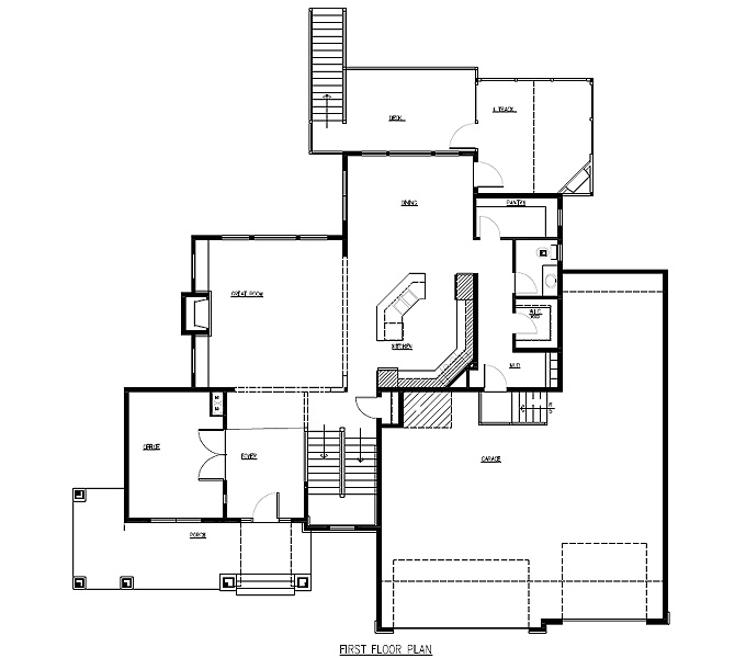 The Lakes Model Home Main Level Plan