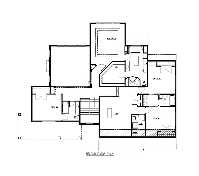 The Lakes Model Home Upper Level Plan