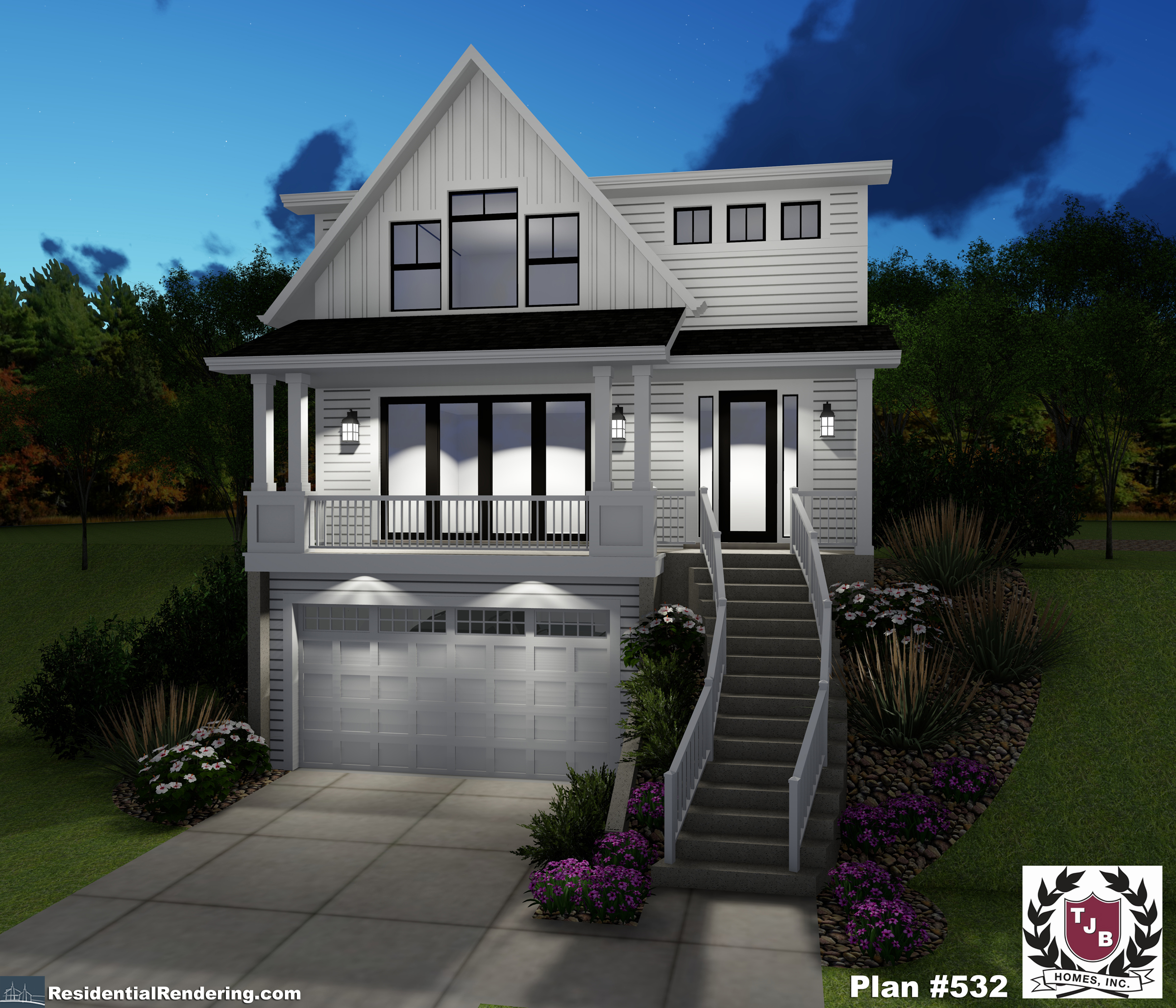 Front Plan Color Rendering