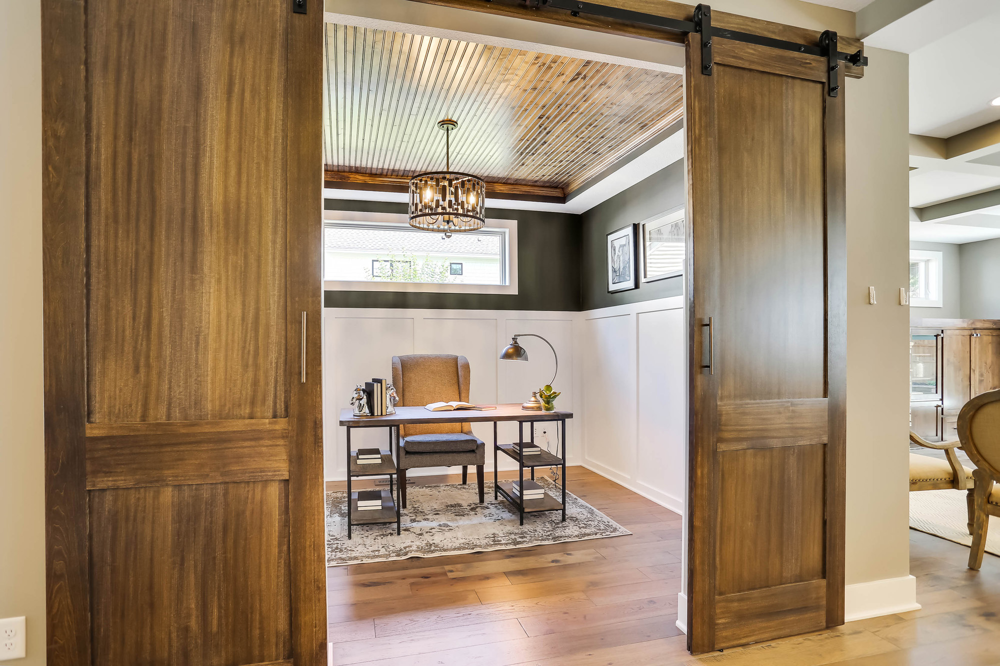 Office with Barn Doors