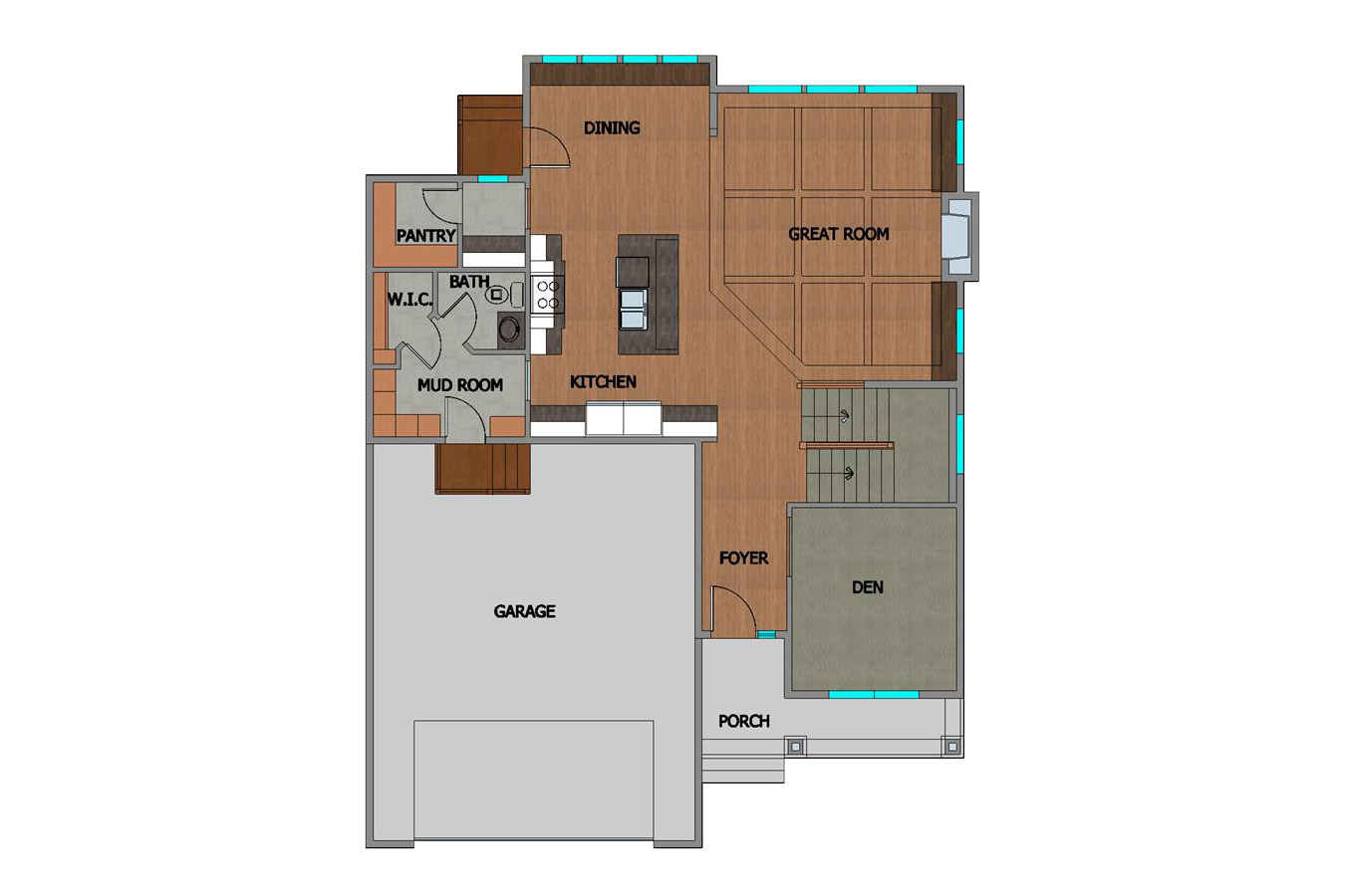#218185 Elena Home Plan First Floor Plan