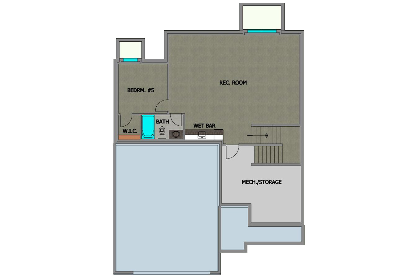 #218185 Elena Home Plan Lower Floor Plan