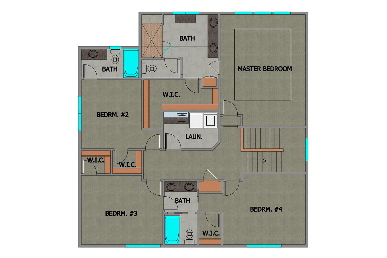 #218185 Elena Home Plan Second Floor Plan