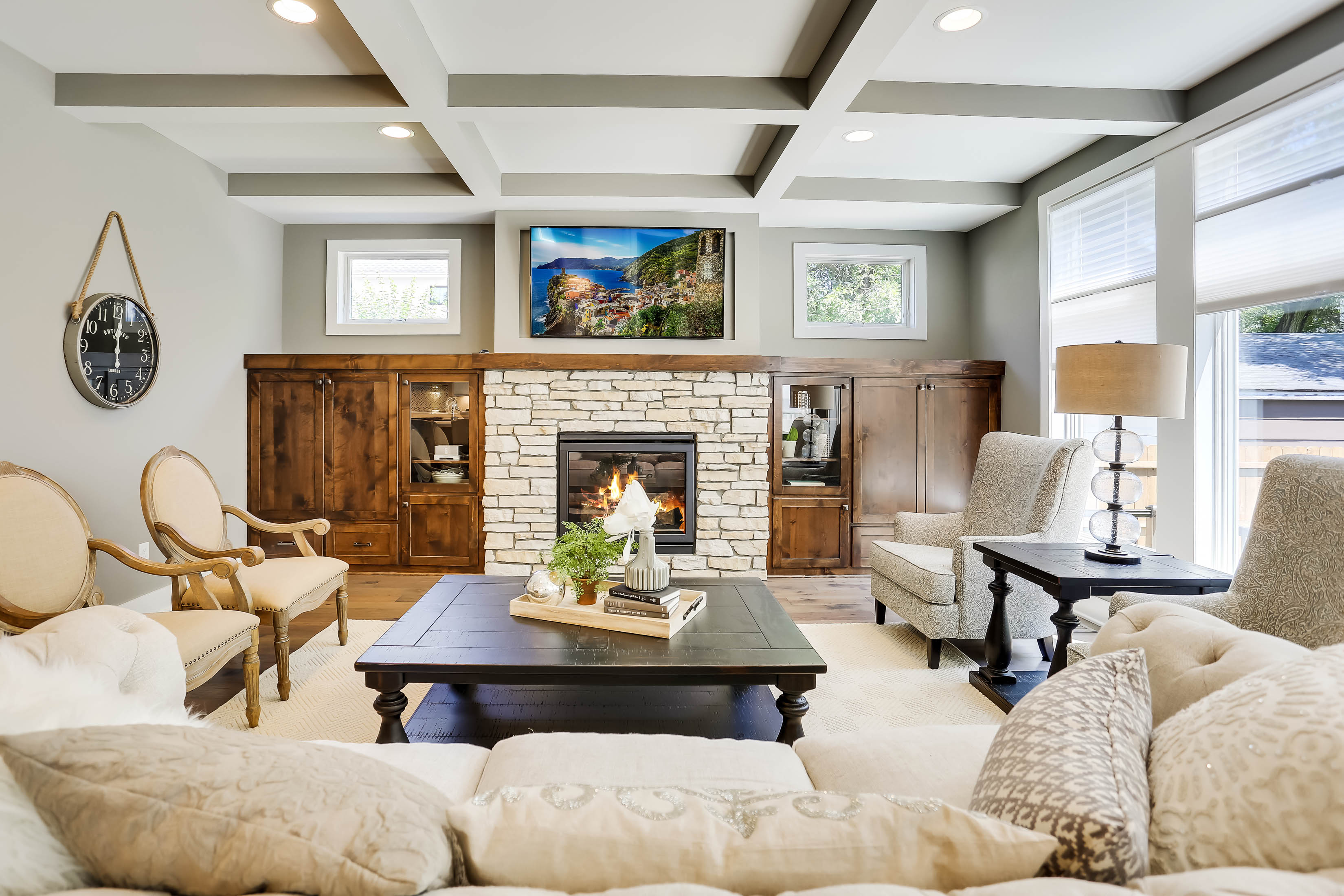 Edina Custom Home Great Room