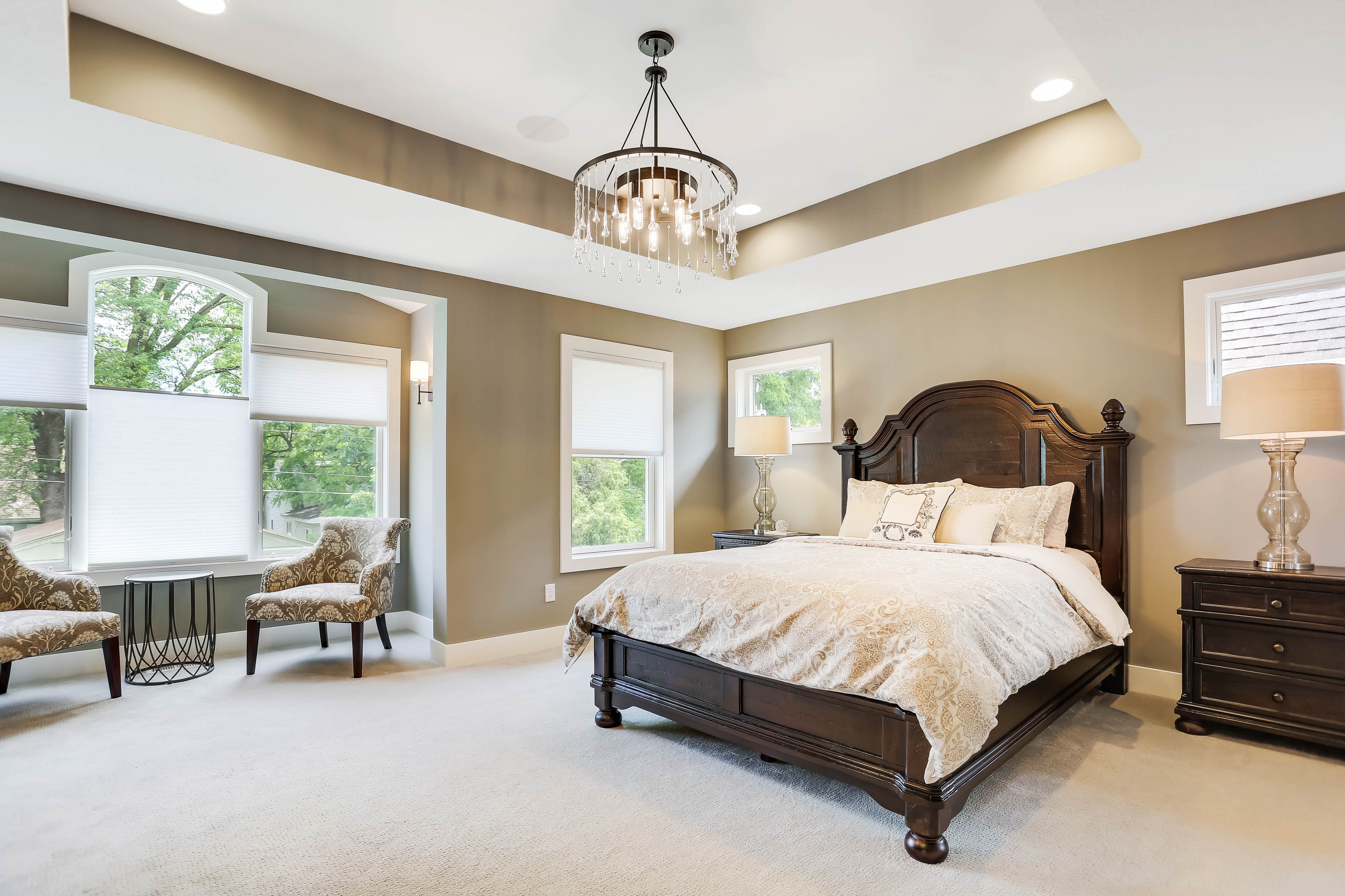 Edina Custom Home Master Bedroom