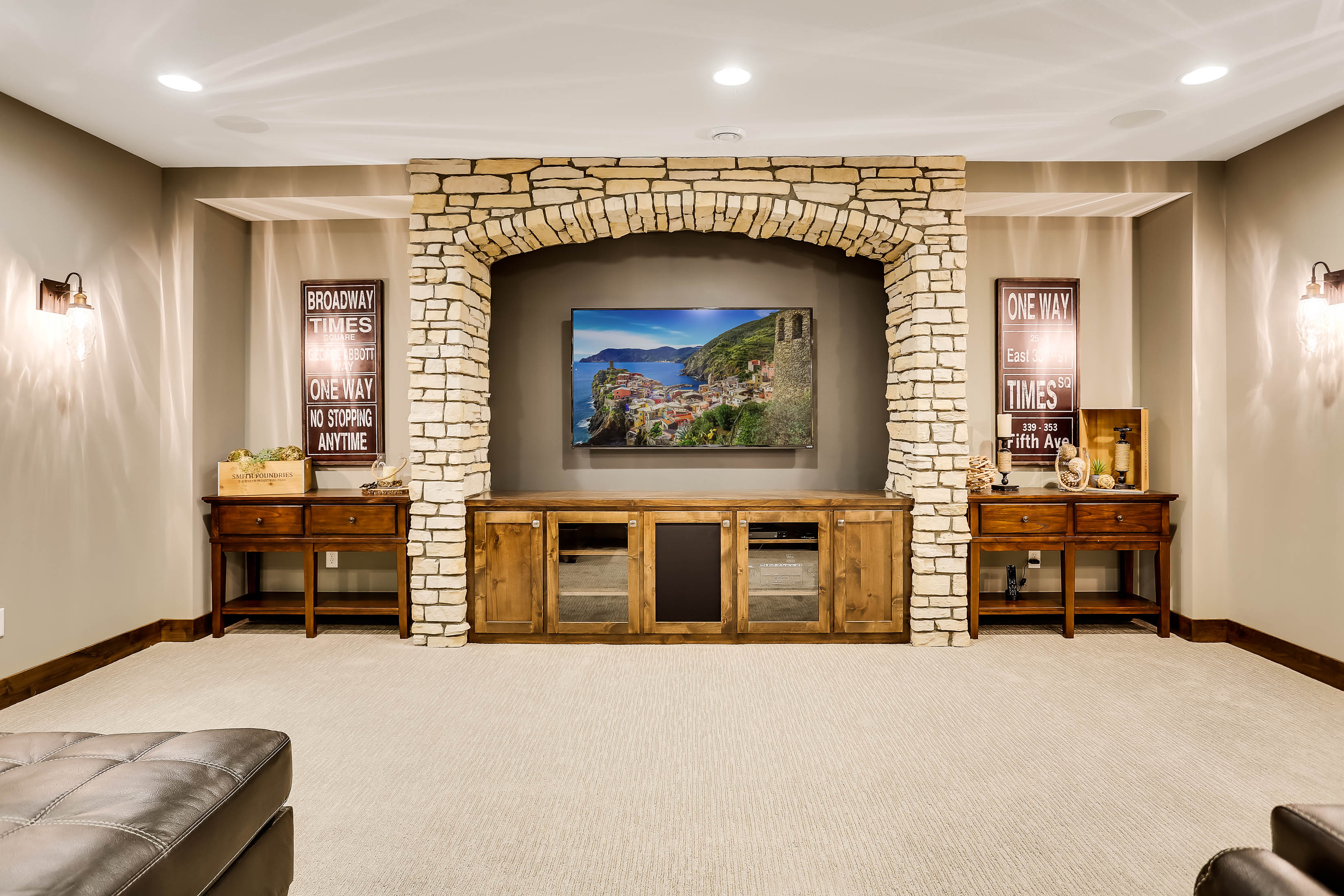 Edina Custom Home Media Room