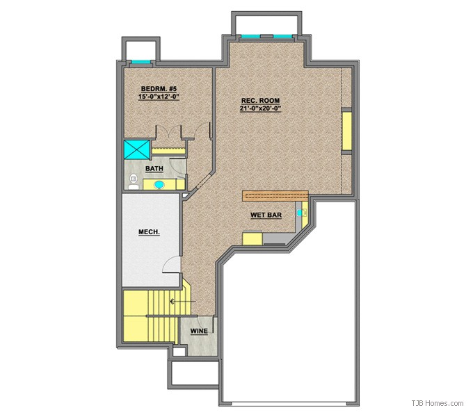TJB414 CELINA II LOWER LEVEL FLOOR PLAN