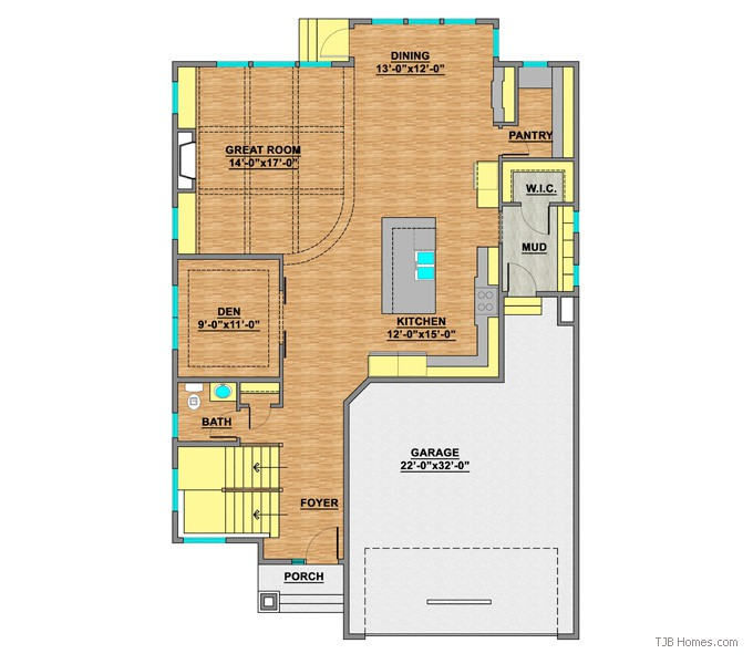 TJB414 CELINA II MAIN LEVEL FLOOR PLAN