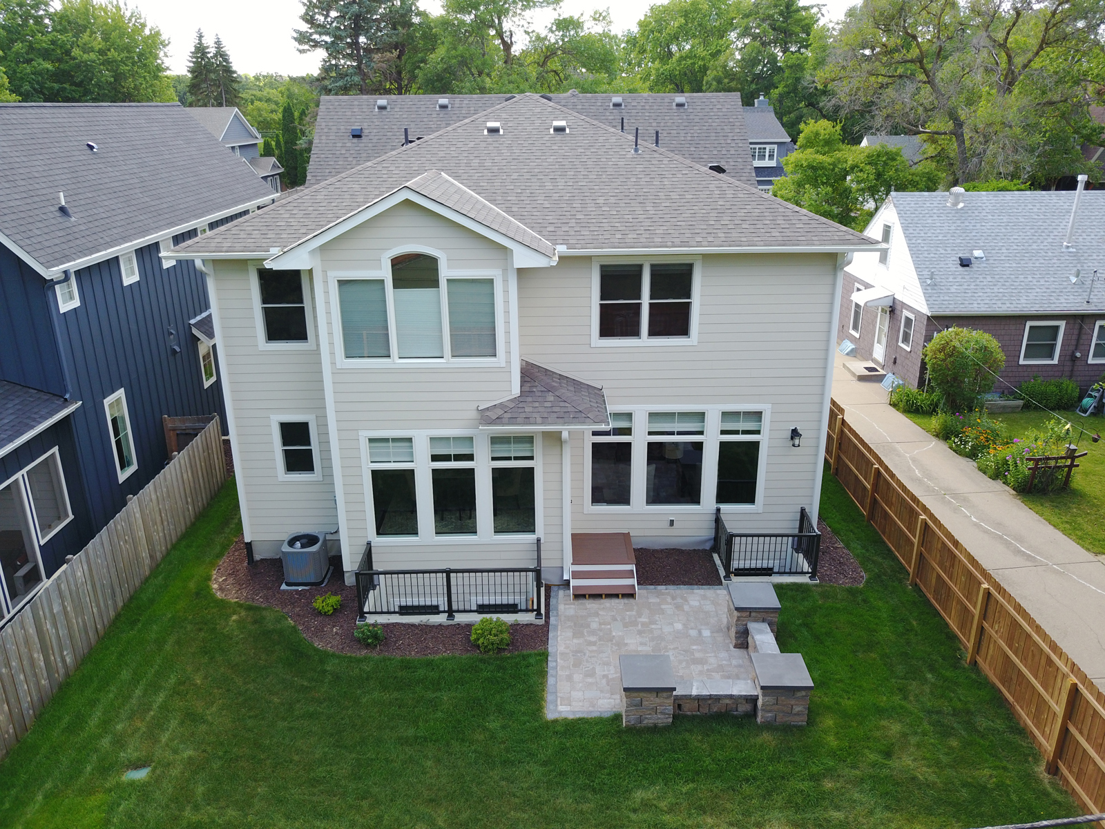 Aerial View of Back Of Home