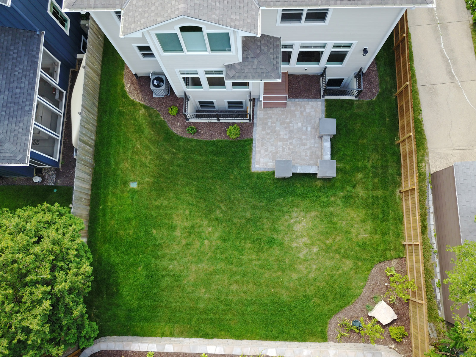 Overhead Aerial View of Backyard