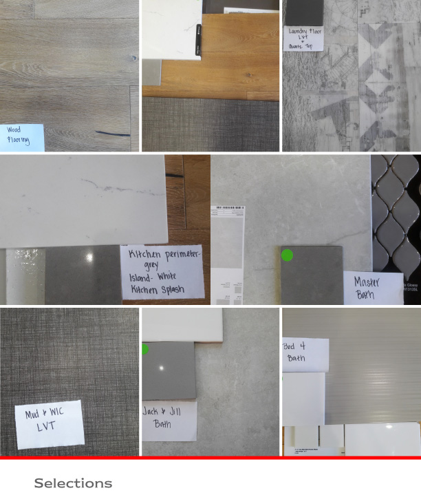 Model Home Floor and Tile Sections