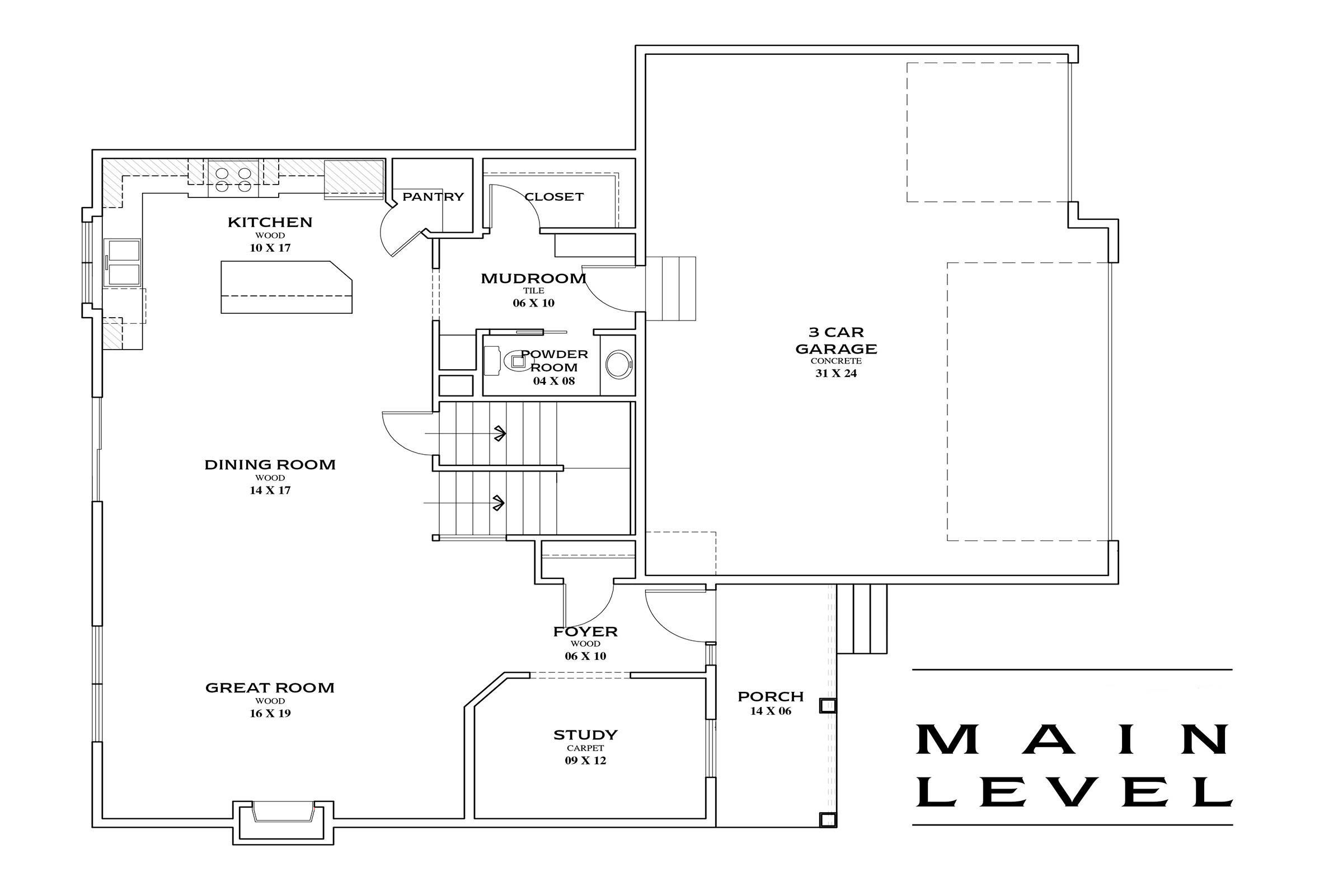TJB Maddy Home Plan #360 Main Floor Plan