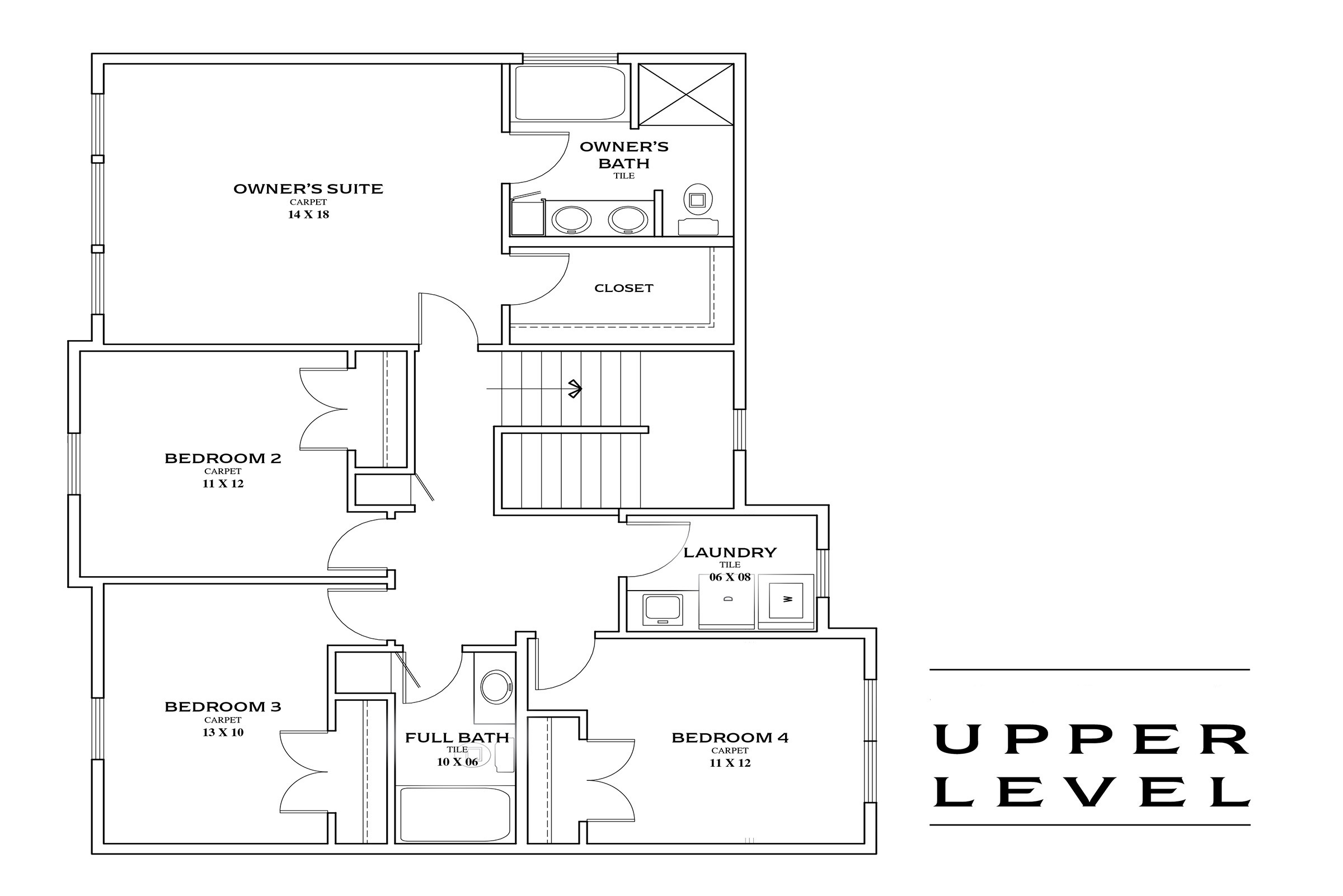 TJB Maddy Home Plan #360 Upper Floor Plan